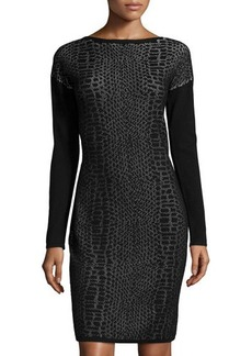 Elie Tahari Sarah Snake-Print Sheath Dress