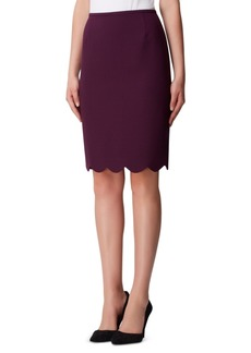 Tahari Asl Petite Scallop-Hem Pencil Skirt
