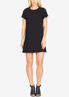 Tahari Asl Scalloped Shift Dress