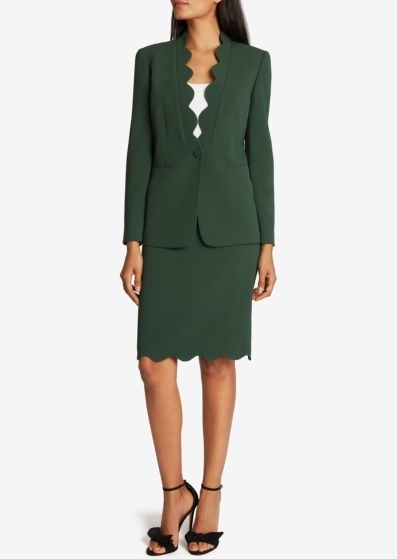 Tahari Asl Scalloped Skirt Suit