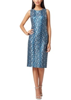 Tahari Asl Sequin Sheath Dress