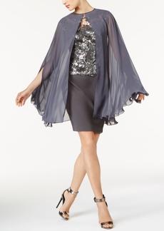 Tahari Asl Sequined Dress and Cape