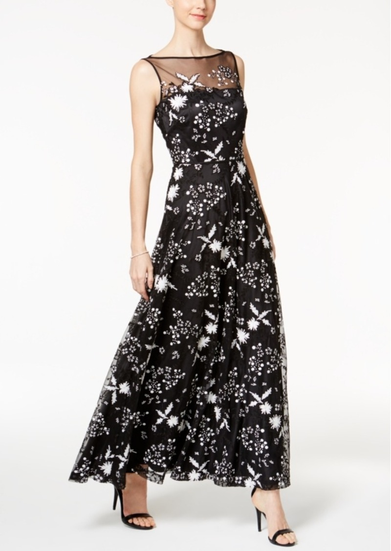 36faadc63a81 Tahari Tahari Asl Sequined Flower Illusion Gown | Dresses