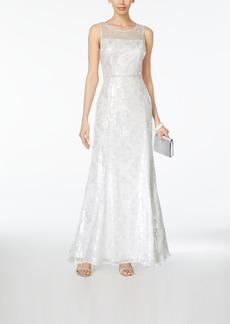 Tahari Asl Sequined Illusion Gown