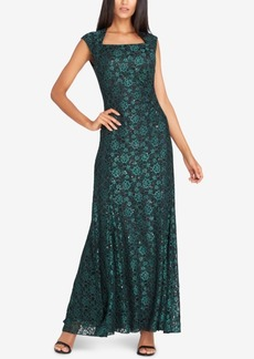 Tahari Asl Sequined Lace Gown