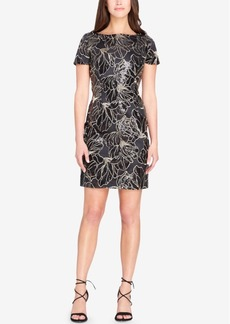 Tahari Asl Sequined Sheath Dress