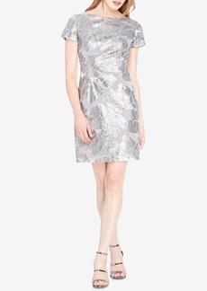 Tahari Asl Sequined Sheath Dress
