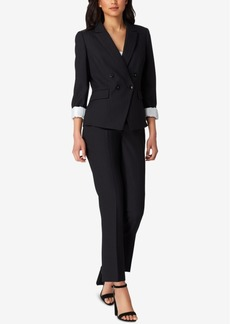 Tahari Asl Shadow-Stripe Pantsuit, Regular & Petite