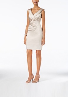 Tahari Asl Shantung Sheath Dress