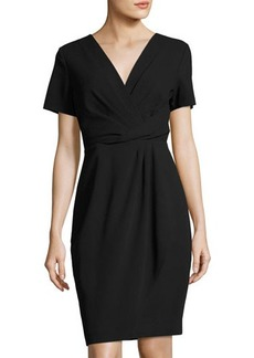 Tahari ASL Short-Sleeve Crossover Dress