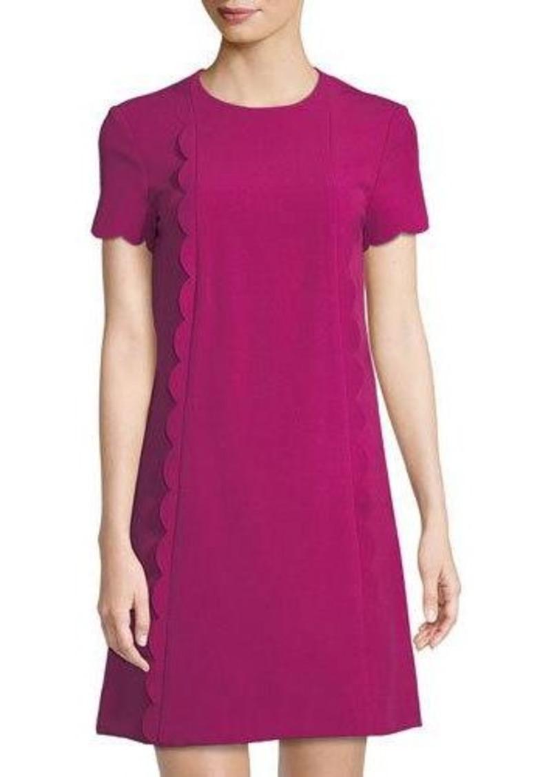 7f62b46c88335 On Sale today! Tahari Tahari ASL Short-Sleeve Scallop-Edge Crepe Dress