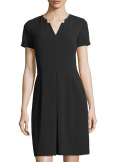 Tahari ASL Short-Sleeve V-Neck Dress