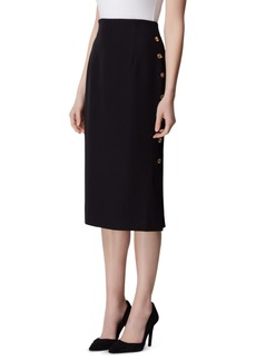 Tahari Asl Petite Button-Side Pencil Skirt