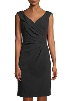 Tahari ASL Side-Ruched Sleeveless Cocktail Dress