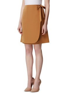 Tahari Asl Side-Tie Wrap Skirt