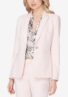 Tahari Asl Single-Button Peak-Collar Blazer