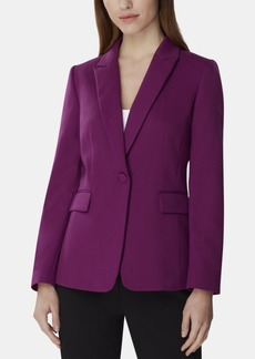Tahari Asl Petite Single-Button Peak-Lapel Blazer