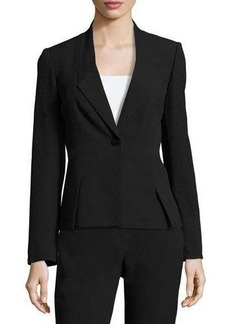 Tahari ASL Slant-Seamed One-Button Blazer Jacket