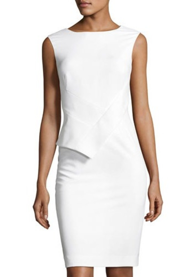 c502cec4760e8d Tahari Tahari ASL Sleeveless Asymmetric-Peplum Sheath Dress Now  44.50
