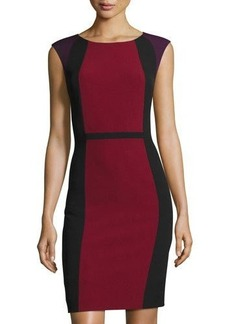 Elie Tahari Sleeveless Colorblock Sheath Dress