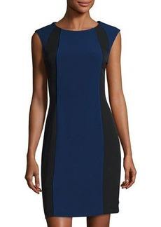 Tahari ASL Sleeveless Colorblock Sheath Dress