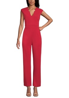 Tahari Asl Sleeveless Crepe Wide-Leg Jumpsuit