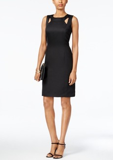 Tahari Asl Sleeveless Cutout Sheath Dress