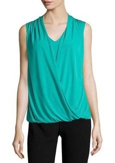 Tahari ASL Sleeveless Draped Blouse