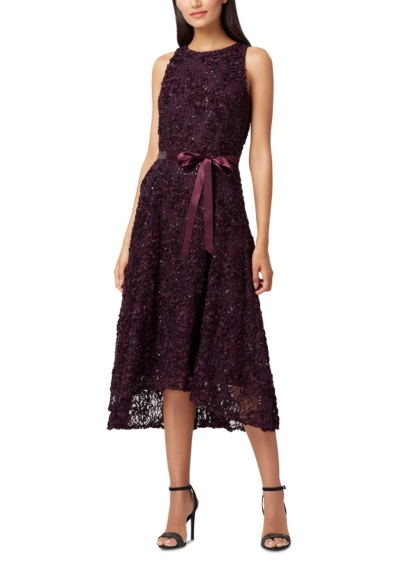 Tahari Asl Sleeveless Embellished Dress