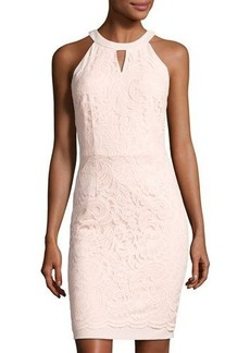 Tahari ASL Sleeveless Floral-Lace Sheath Dress