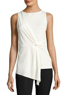 Tahari ASL Sleeveless Front-Twist Knit Blouse