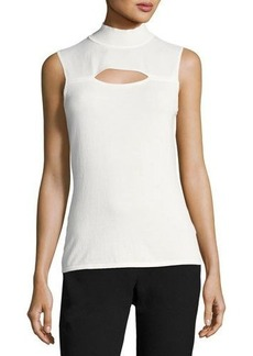 Tahari ASL Sleeveless Mock-Neck Blouse