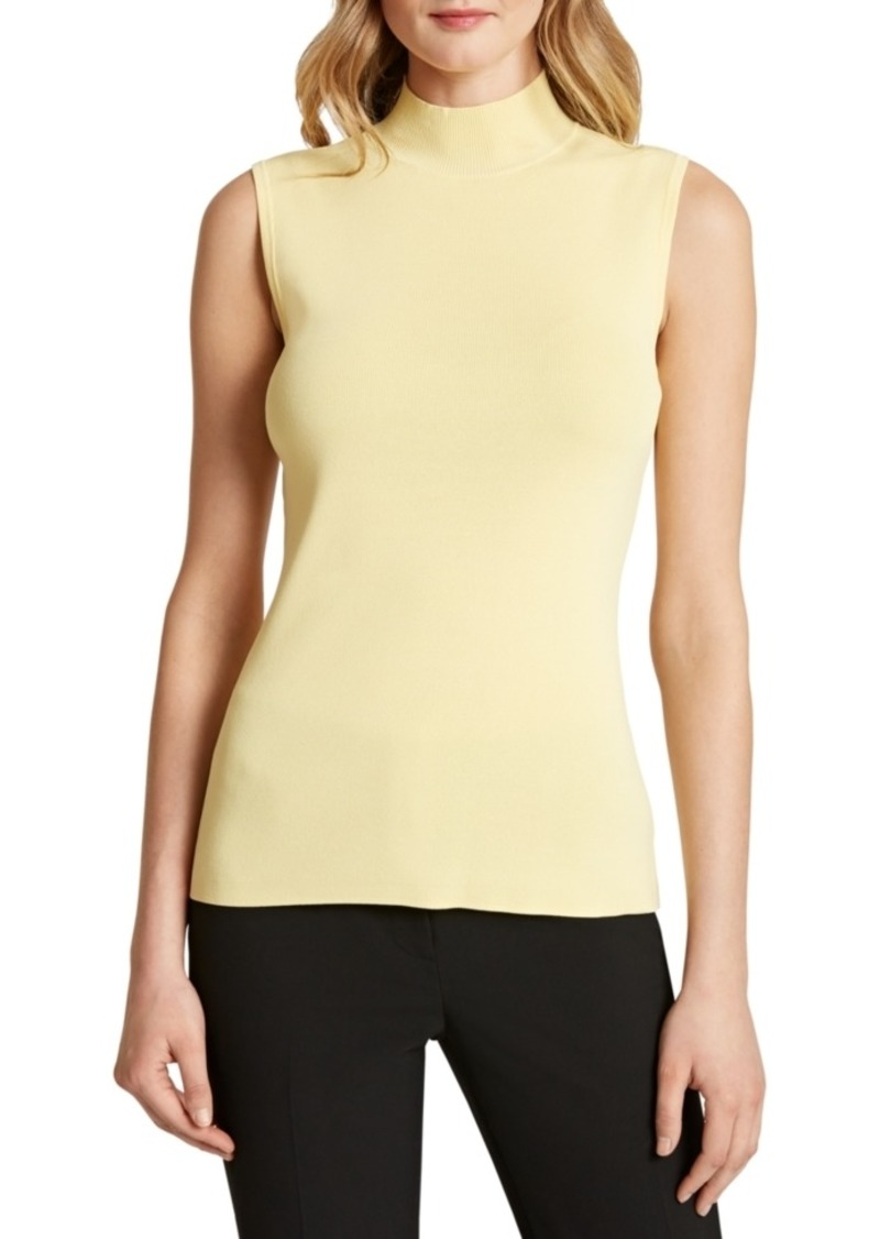 Tahari Asl Sleeveless Mock Neck Knit Top