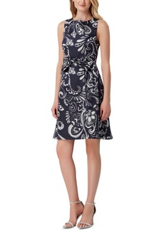 Tahari Asl Sleeveless Paisley Fit & Flare Dress