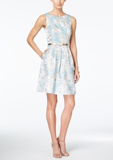 Tahari Asl Sleeveless Printed Fit & Flare Dress