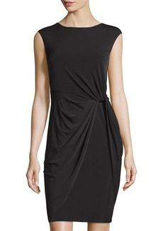 Tahari Sleeveless Twisted-Waist Dress
