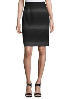 Tahari ASL Striped Jacquard Suiting Skirt