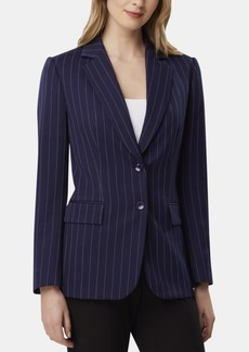 Tahari Asl Petite Pinstriped Two-Button Blazer