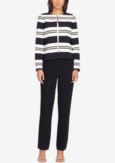 Tahari Asl Striped Flyaway Pantsuit, Regular and Petite