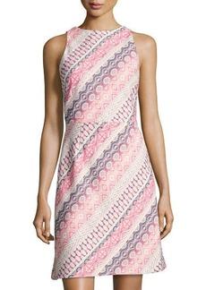 Tahari ASL Striped Jacquard Sheath Dress