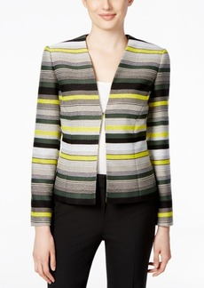 Tahari Asl Striped Open-Front Jacket