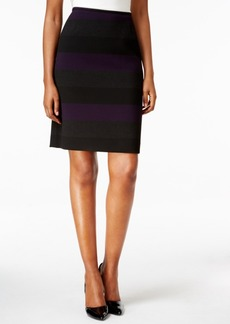 Tahari Asl Striped Pencil Skirt