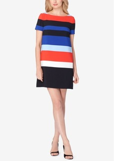 Tahari Asl Striped Shift Dress