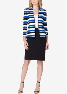 Tahari Asl Striped Skirt Suit, Regular & Petite