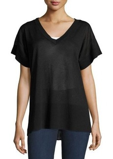 Tahari ASL Susan Short-Sleeve Knit Top