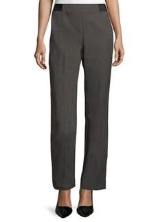Tahari ASL Textured Straight-Leg Trouser Pants