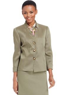 Tahari Asl Textured Three-Button Jacket