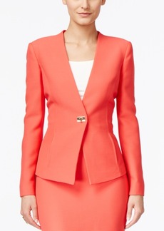 Tahari Asl Textured Turnlock Blazer