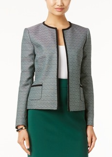 Tahari Asl Textured Tweed Blazer