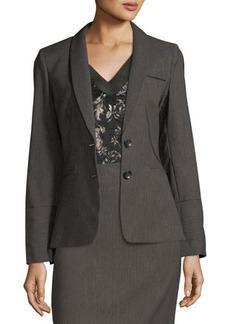Tahari ASL Textured Twill Jacket